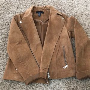 Forever 21 faux suede tan jacket